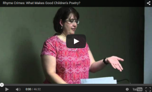 "Paula Jane Remlinger talking about ""Rhyme Crimes: What Makes Good Children's Poetry"""